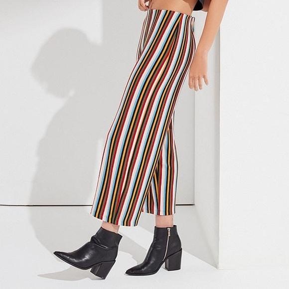 UO Rainbow Striped Flared Pants